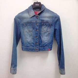 Espirit croptop denim jacket (authetic)