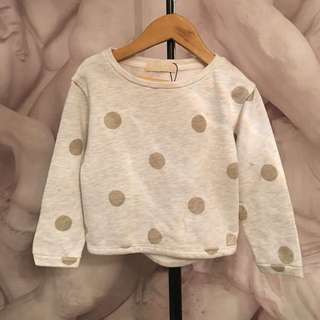 Zara Sweater With Gold Polka Dot Design