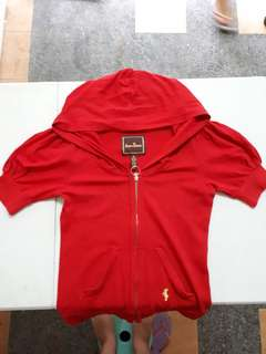 Red shirt with hood