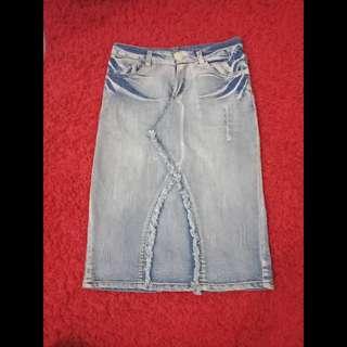 HW Denim Skirt.