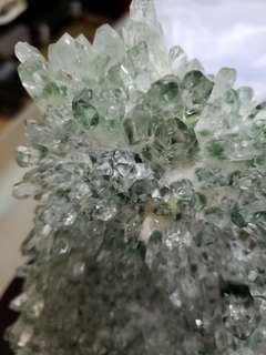 綠幽靈水晶座