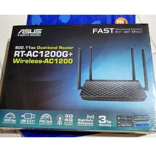 Asus RT-AC1200G+ AC1200 Dual Band WiFi Router with four 5dBi antennas and Parental Controls, smooth streaming 4K videos from Youtube and Netflix