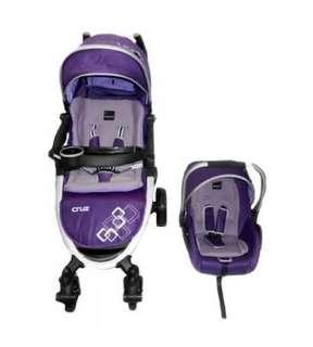 Babyelle  cruz Purple travel System