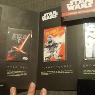 Star wars limited edition EZ-link cards