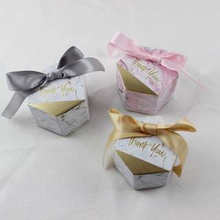 Marble candy box doorgift