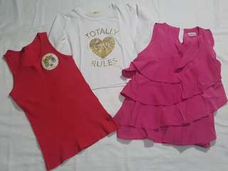 Assorted tops for kids size 12