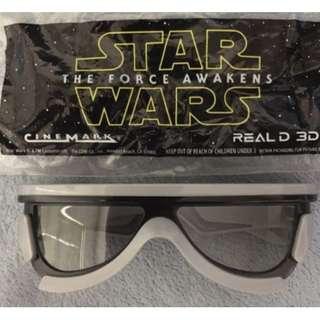 【全新未開*2015年絕版珍藏】Star Wars The Force Awakens Real D 3D 電影立體眼鏡 紀念非賣品 movie han solo last jedi rogue one