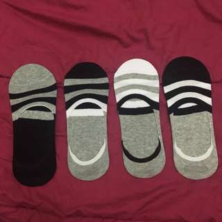 Stripes Socks - Invisible Socks - Kaos Kaki