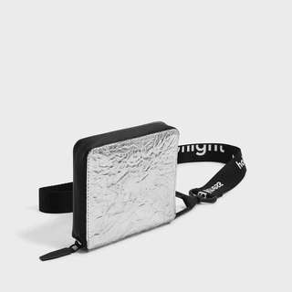 CK HOLO SHORT WALLET STRUCTURED SILVER