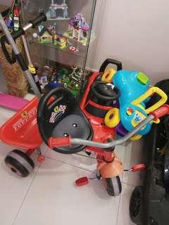 Ferrari tricycle baby walker plus toy