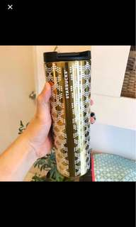 Starbucks Gold Mermaid Scale Metal Thermos