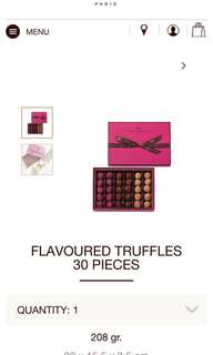 Discounted Maison du Chocolat truffles - retail at $730
