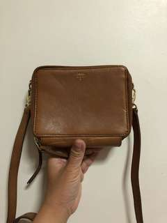 FOSSIL Brown Leather Sling Bag