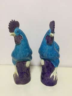 Blue roosters 10""