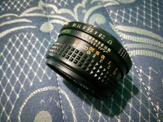 Mamiya Sekor ef 50mm f1.7 untuk canon