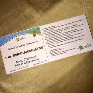 1 hr massage at Island Cove Hotel, Cavite