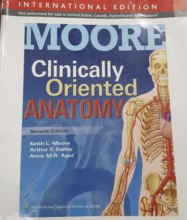 Clinically Oriented Anatomy by Moore 7th Edition