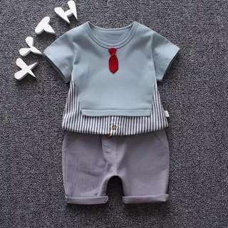 🚚 小領結 男童 寶寶套裝