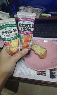 日本 蒜蓉醬 多士醬 明太子醬 法式麵包