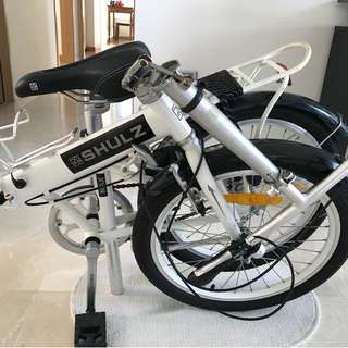 Foldable Shulz Bicycle. Single gear. 2y old