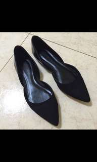 Charles & Keith Leather Flats