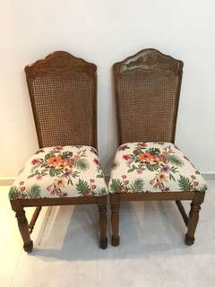 Newly upholstered British colonial chair