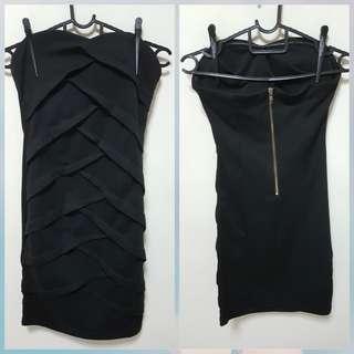 Black bodycon dinner dress