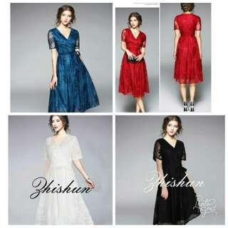 🍃Formal Lace Midi Maxi Dress