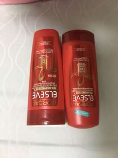 L'Oréal hair shampoo and conditioner