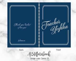 Personalised note book - classic