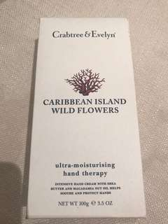 ✨BNIB✨Crabtree & Evelyn Wild Flower Ultra-Moisturising Hand Therapy 100g