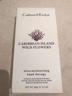 ✨BNIB✨Crabtree & Evelyn Wild Flower Ultra-Moisturising Hand Therapy 100g