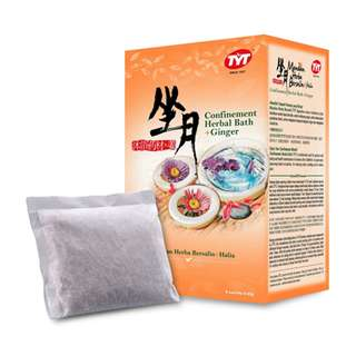 TYT CONFINEMENT HERBAL BATH + GINGER (8 SACHETS X 45G)