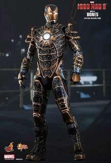 "Hot Toys Iron Man 3 Skeleton Suit Mark XLI ""Bones"""