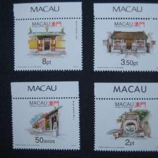 澳門1993-澳門廟 (2) - 郵票- $25包平郵