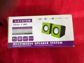 G-System Multimedia Speaker 迷你喇叭一對