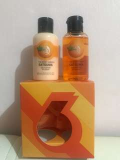 The body shop Satsuma shower gel & gel lotion