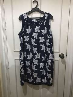 Debenhams Lily Printed Dress with Cutout Neck Detail