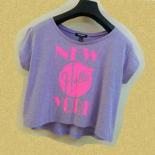 Lilac cropped top tee ♡