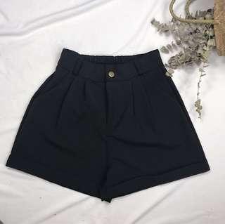 Basic Elastic Waist Shorts #411