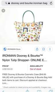 Iron Man Dooney & Bourke bag special edition
