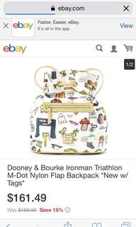 Iron Man Dooney & Bourke backpack limited edition