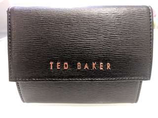 Ted Baker Black Leather Travel Jewellery Case