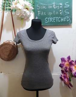 Grey Body Fit Top