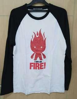 Blouse Lengan Panjang Giordano On Fire Size M