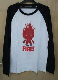 Blouse Lengan Panjang Giordano On Fire Size XL