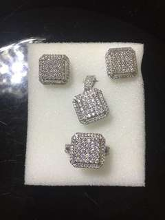 18K Gold Plated Diamomd Zirconia Set