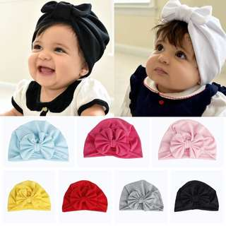 Baby Girl Hairband turban yellow