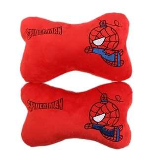 🚚 蜘蛛人汽車頸枕骨頭枕一對