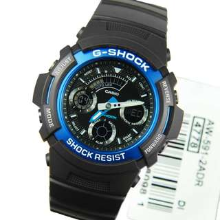 only hk$409, 100% new Casio Men's AW591-2A G-Shock Ana-Digi Chronograph Shock Resistant Sport Watch